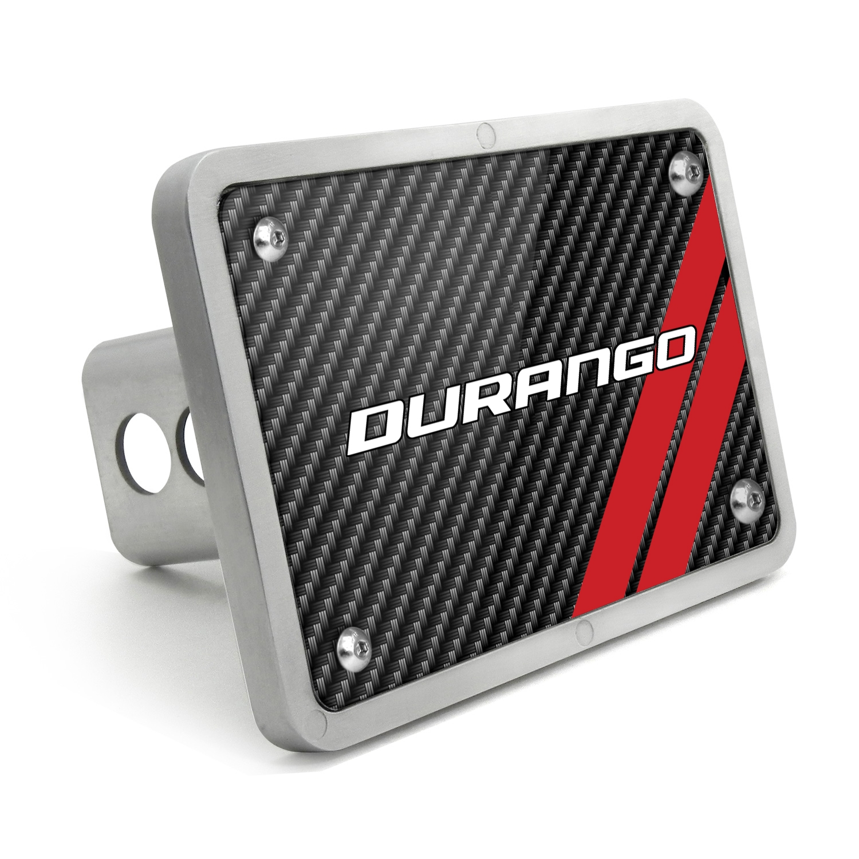 Dodge Durango UV Graphic Carbon Fiber Texture Billet Aluminum 2 inch Tow Hitch Cover
