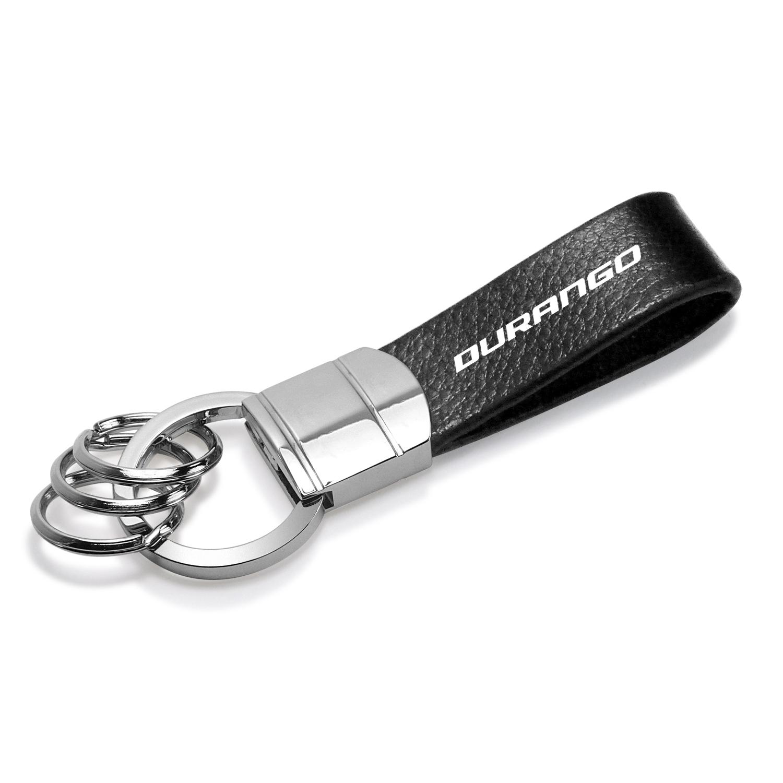 Dodge Durango Genuine Black Leather Strap Loop Key Chain
