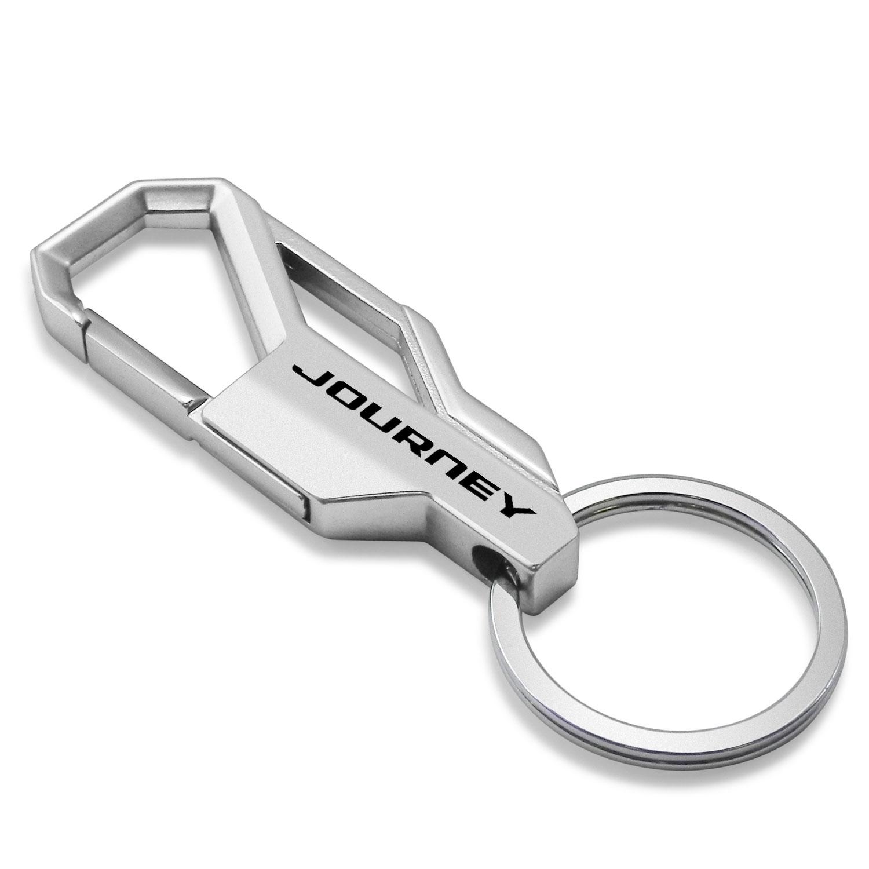 Dodge Journey Silver Snap Hook Metal Key Chain