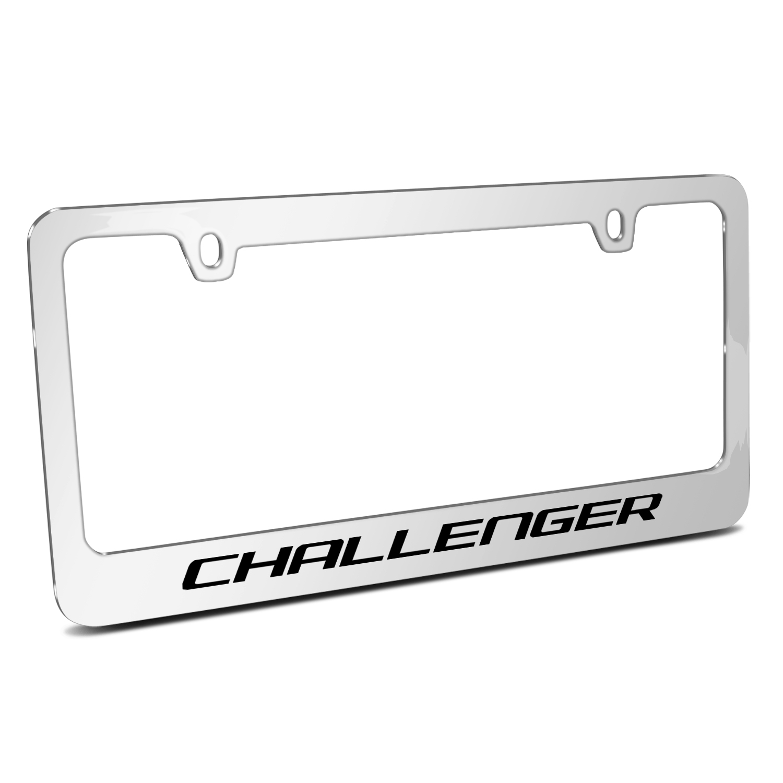 Dodge Challenger Mirror Chrome Metal License Plate Frame - License ...