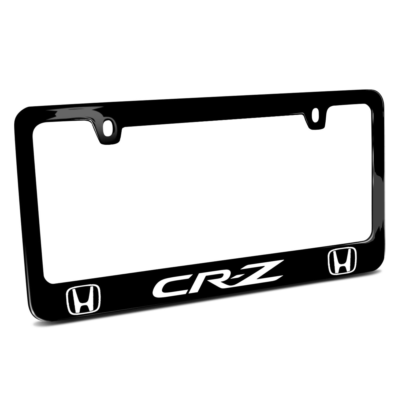Honda CR Z Dual Logo Black Metal License Plate Frame