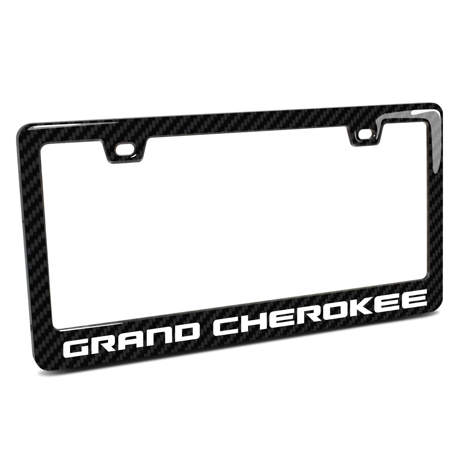 Jeep Grand Cherokee Black Real 3K Carbon Fiber Finish ABS Plastic License Plate Frame