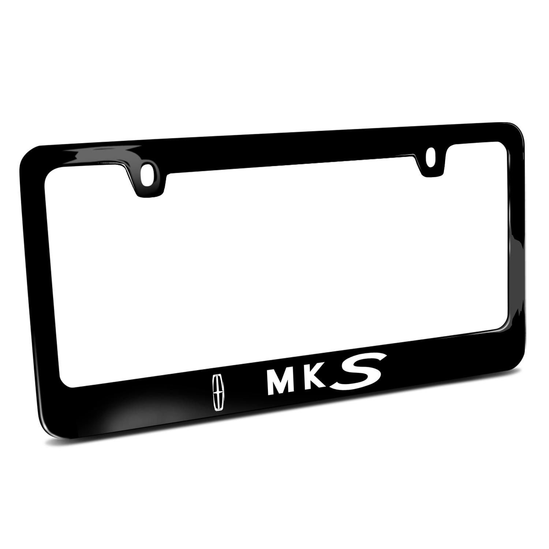 Lincoln MKS Black Metal License Plate Frame - Lincoln - License Frames