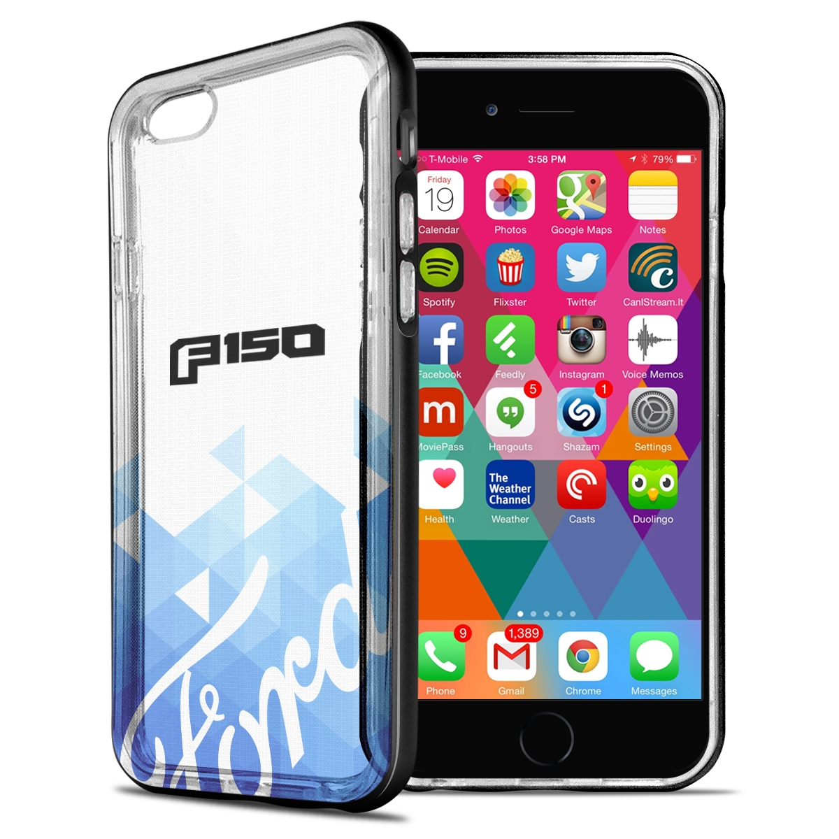 Ford F-150 2015 up iPhone 6 6s Shockproof Clear TPU Case with Metal Bumper Hybrid Phone Case