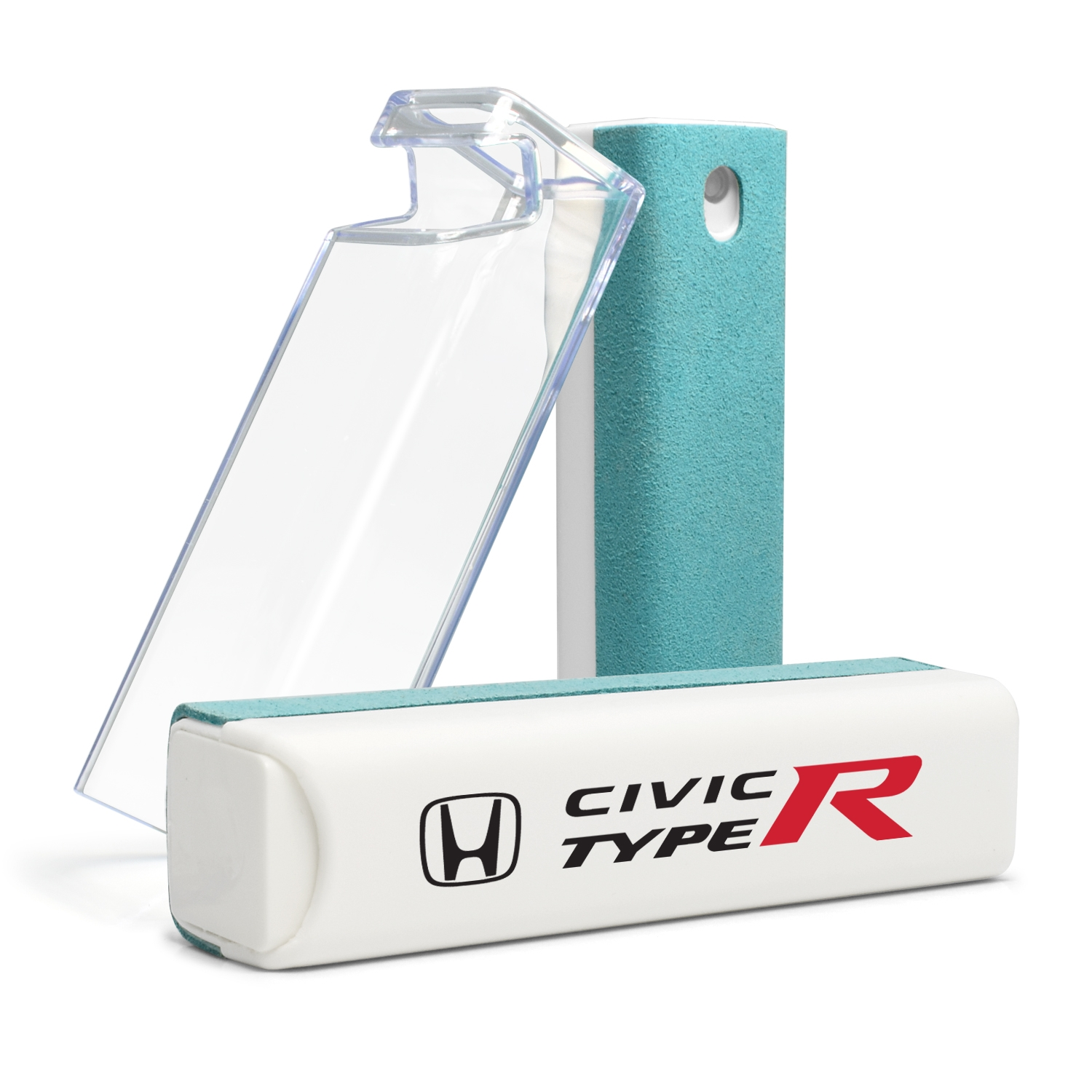 Honda Civic Type-R All-in-One Blue Wipe Navigation Screen Cleaner with Clear Cell Phone Stand