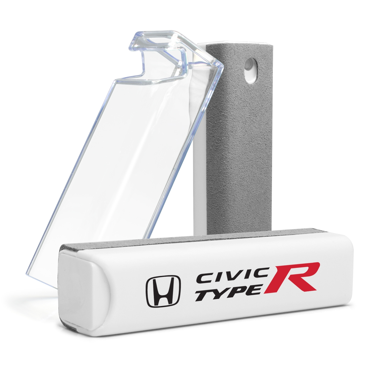 Honda Civic Type-R All-in-One Gray Wipe Navigation Screen Cleaner with Clear Cell Phone Stand