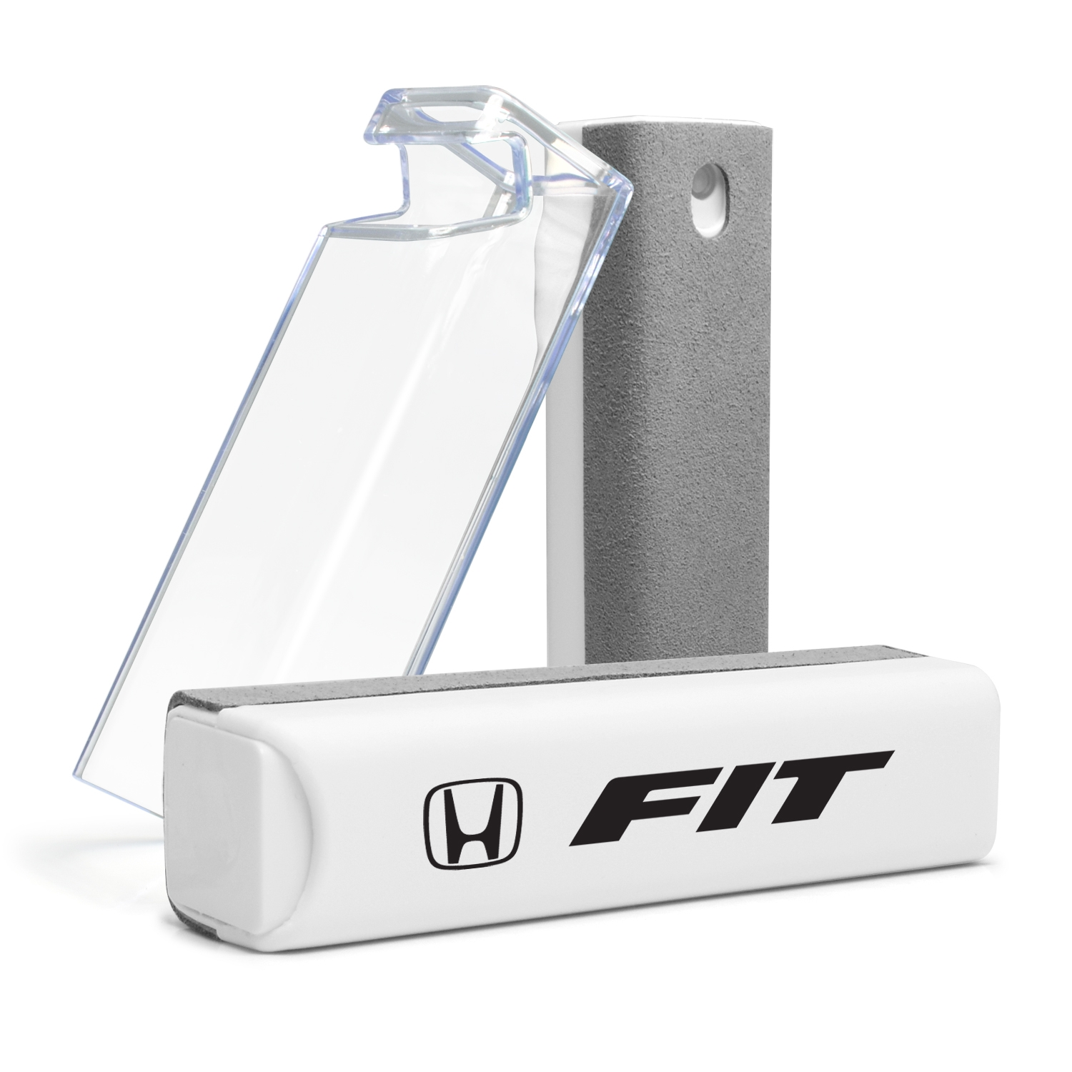Honda Fit All-in-One Gray Wipe Navigation Screen Cleaner with Clear Cell Phone Stand