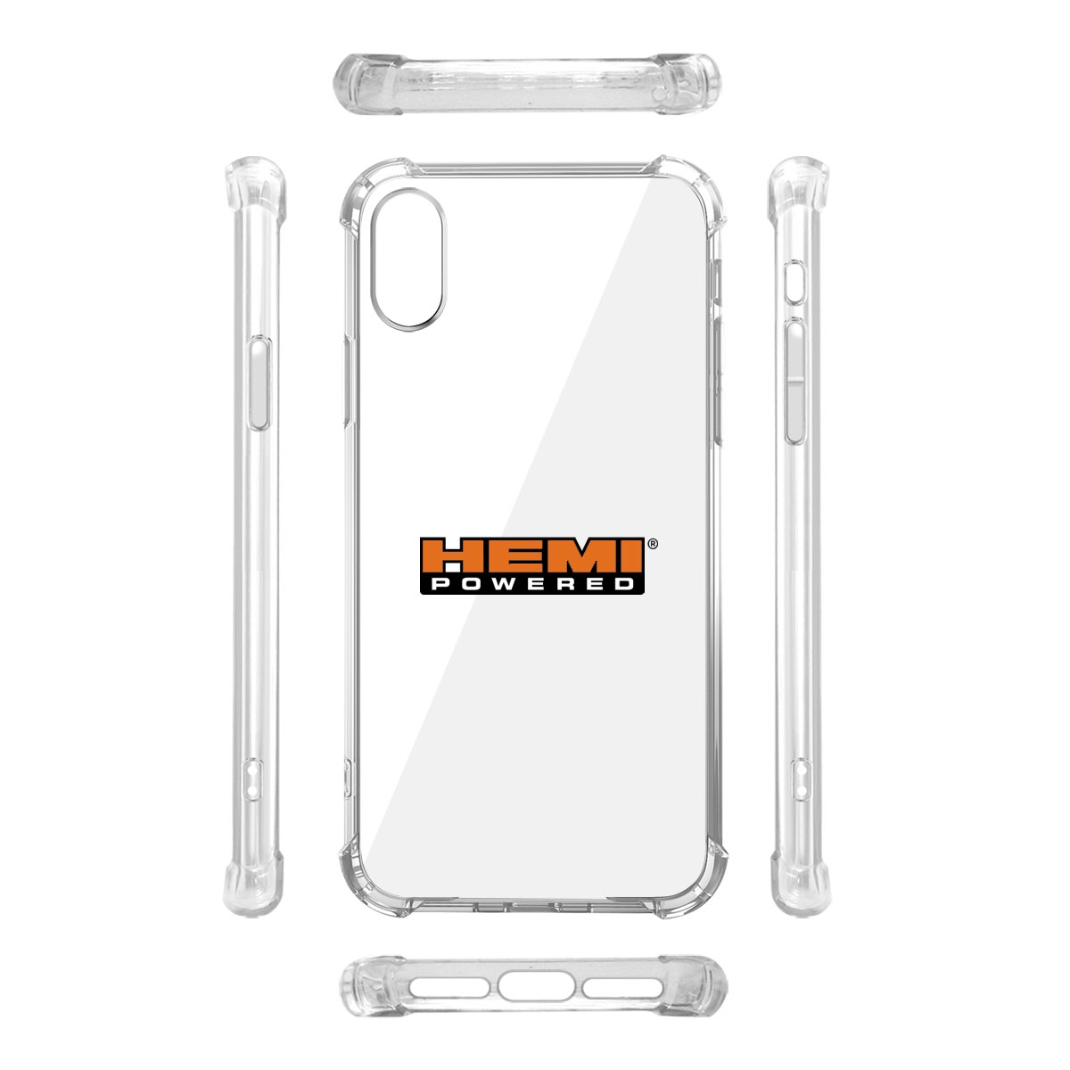 HEMI Powered iPhone X Clear TPU Shockproof Cell Phone Case