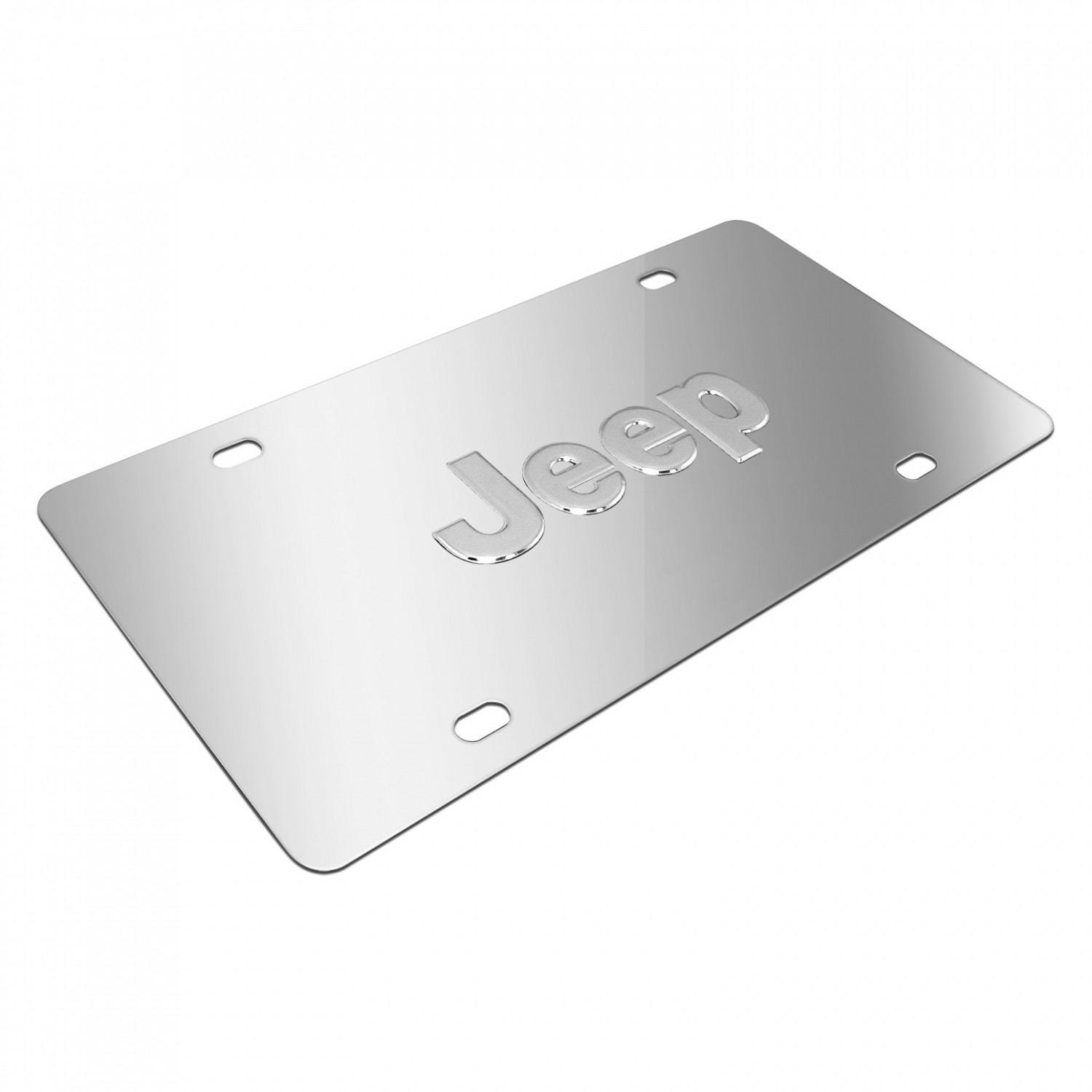 jeep nameplate 3d logo chrome stainless steel license