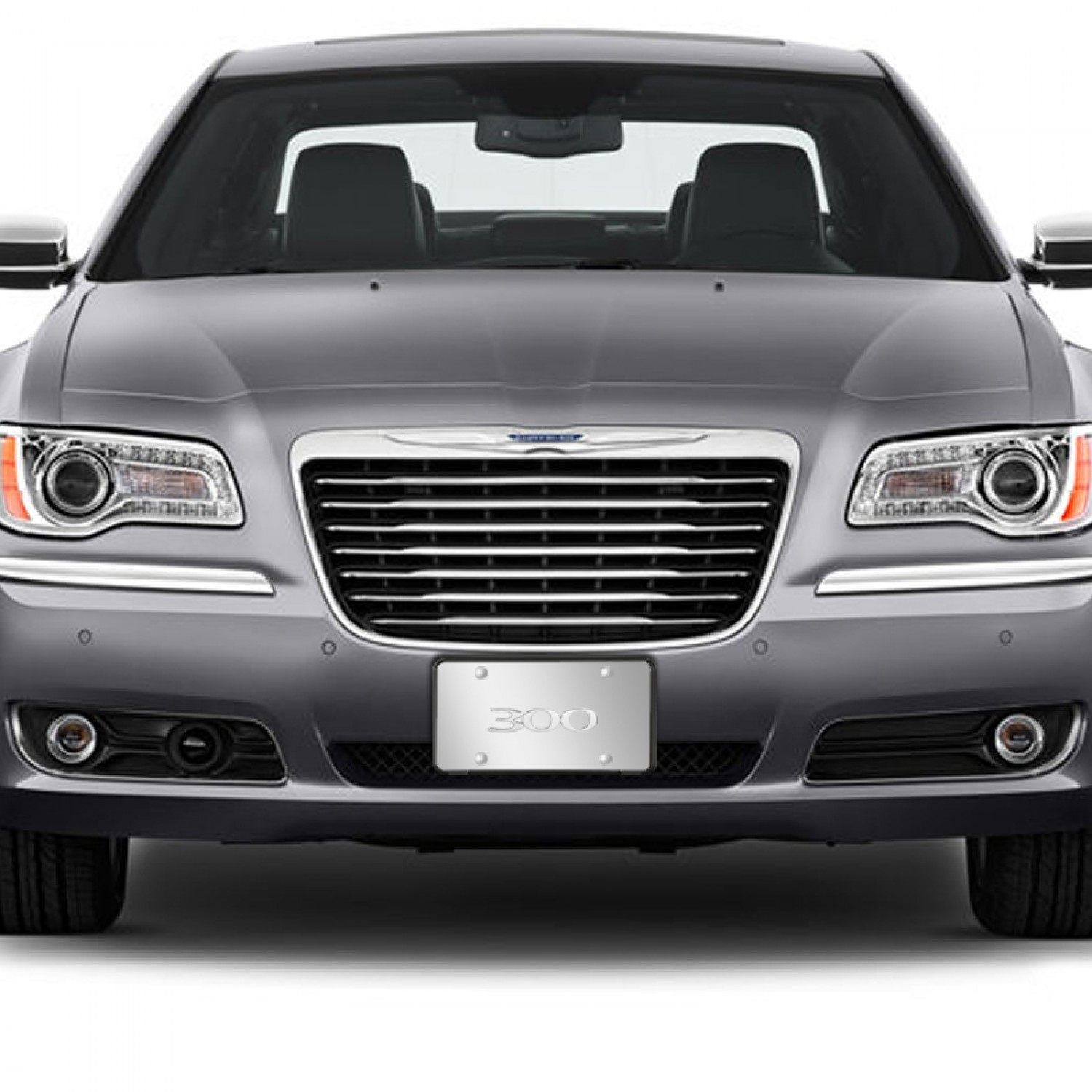 Chrysler 300 3D Logo Chrome Stainless Steel License Plate