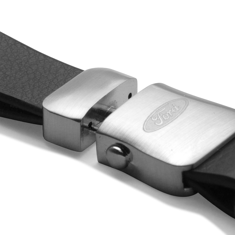 F-150 STX iPick Image Ford Black Leather Strap Key Chain