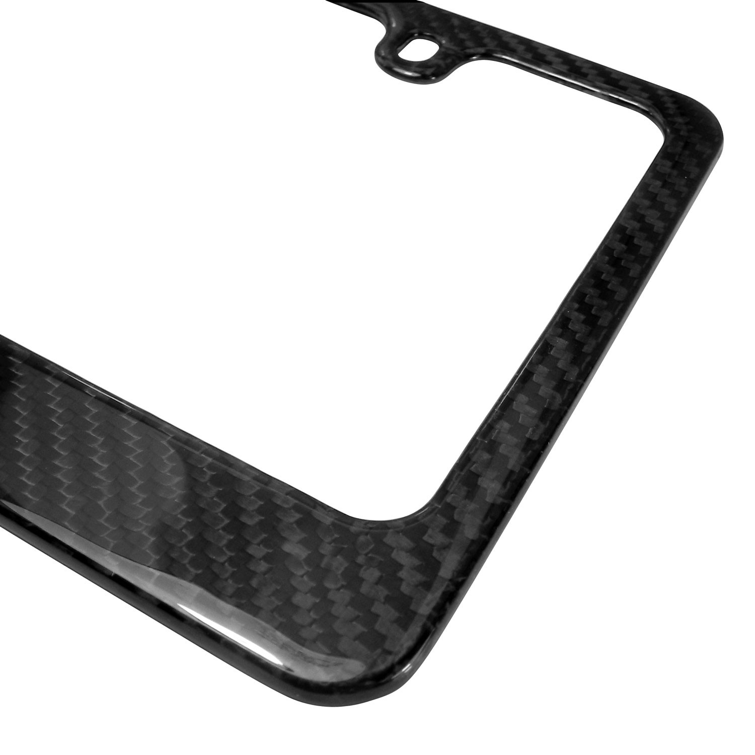 iPick Image Ford Mustang in Red Dual Logo Real Black Carbon Fiber Finish License Plate Frame Exterior Accessories Made in USA