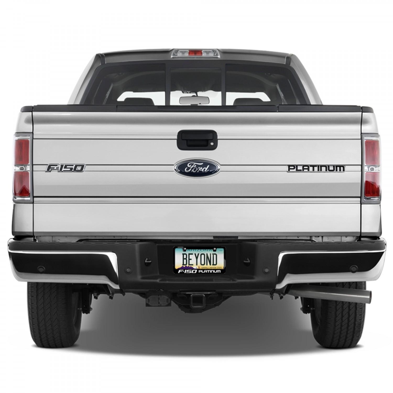 Black Metal Platinum: Ford F-150 Platinum Black Metal License Plate Frame