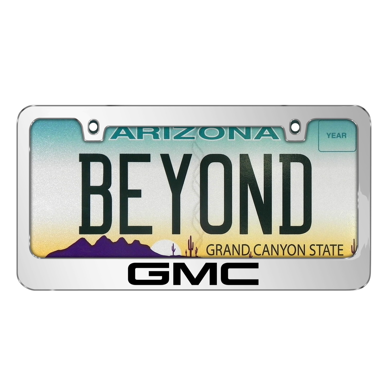 GMC Logo 2017 Mirror Chrome Metal License Plate Frame - GMC ...