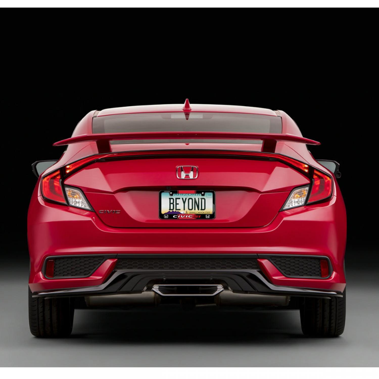 Honda Civic Si Red Racing Stripe Black Metal License Plate