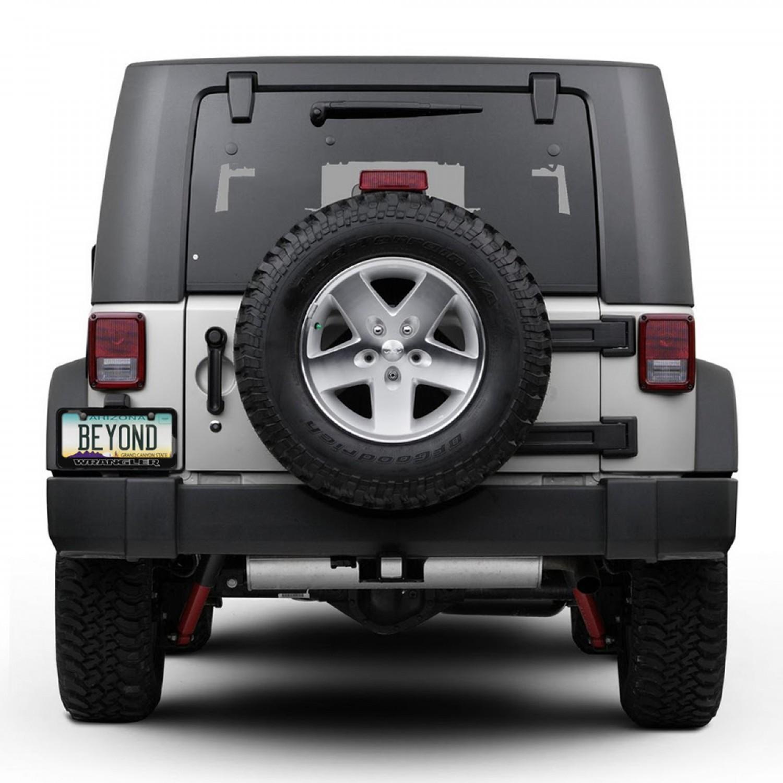 Jeep Wrangler Outline Black Metal License Plate Frame. Jeep Wrangler  Outline Black Metal License Plate Frame