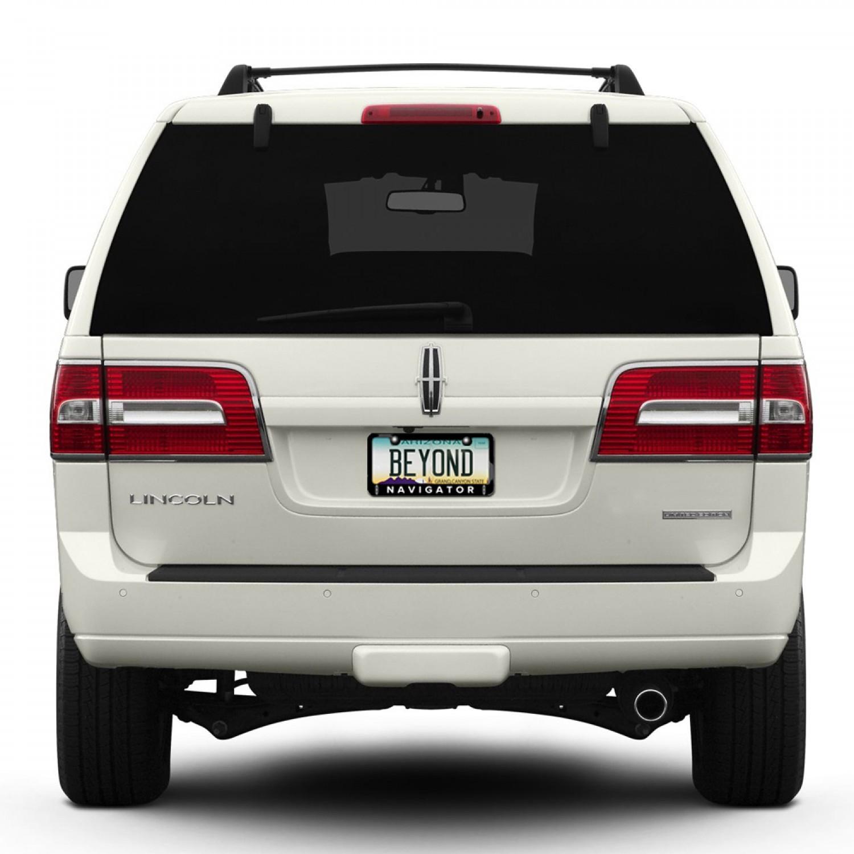 Lincoln Navigator Dual Logo Black Metal License Plate Frame ...