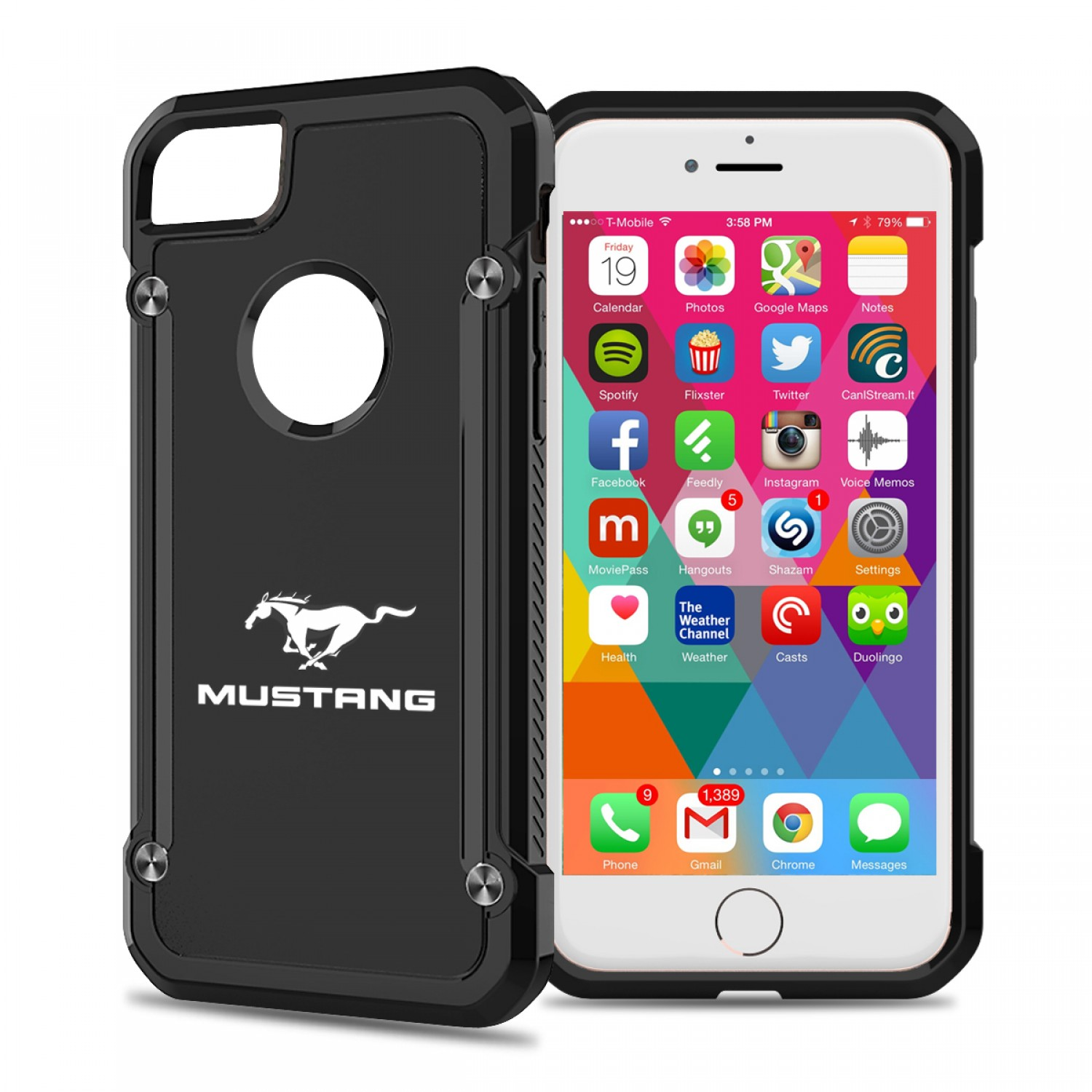 Ford mustang iphone 7 iphone 8 tpu shockproof clear cell phone case