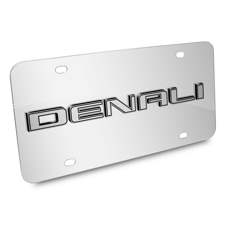 GMC Denali Nameplate 3D Logo Chrome Stainless Steel License Plate