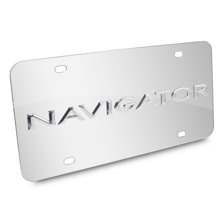 Lincoln Navigator Nameplate 3D Logo Chrome Stainless Steel License Plate