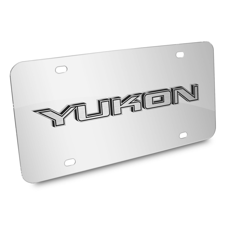 GMC Yukon Nameplate 3D Logo Chrome Stainless Steel License Plate