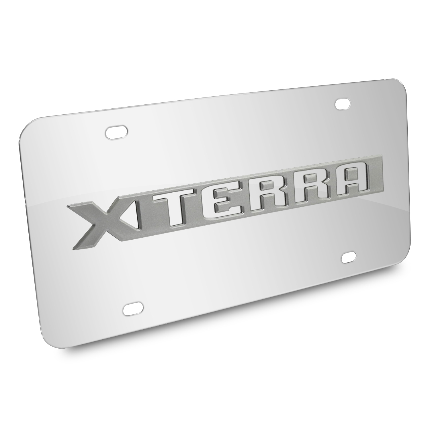 Nissan Xterra Nameplate 3D Logo Chrome Stainless Steel License Plate