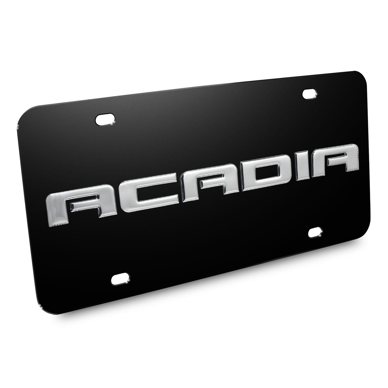 GMC Acadia Nameplate 3D Logo Black Stainless Steel License Plate