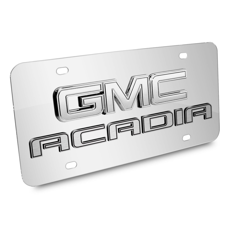 GMC Acadia 3D Logo Chrome Stainless Steel License Plate