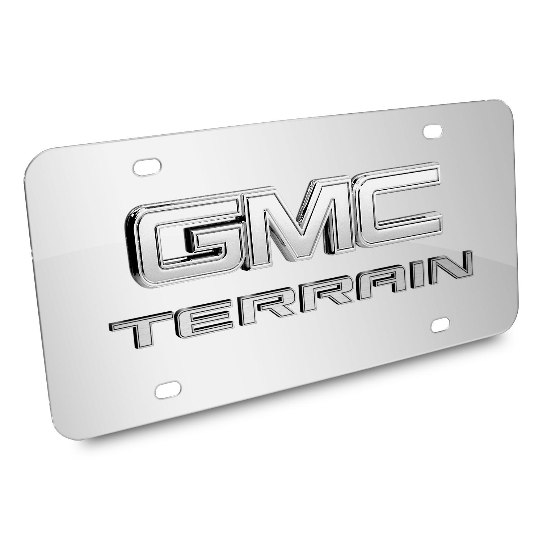 GMC Terrain 3D Logo Chrome Stainless Steel License Plate