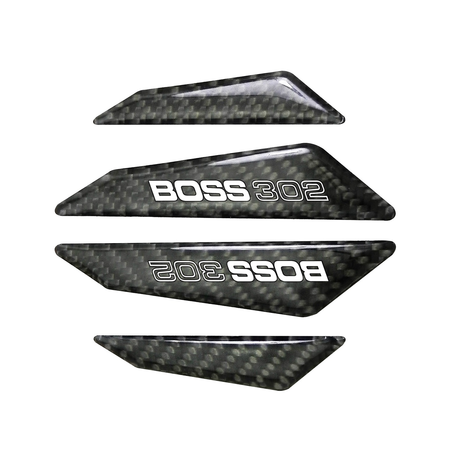 Ford Mustang Boss 302 Real Black Carbon Fiber Door Edge Guard Decal