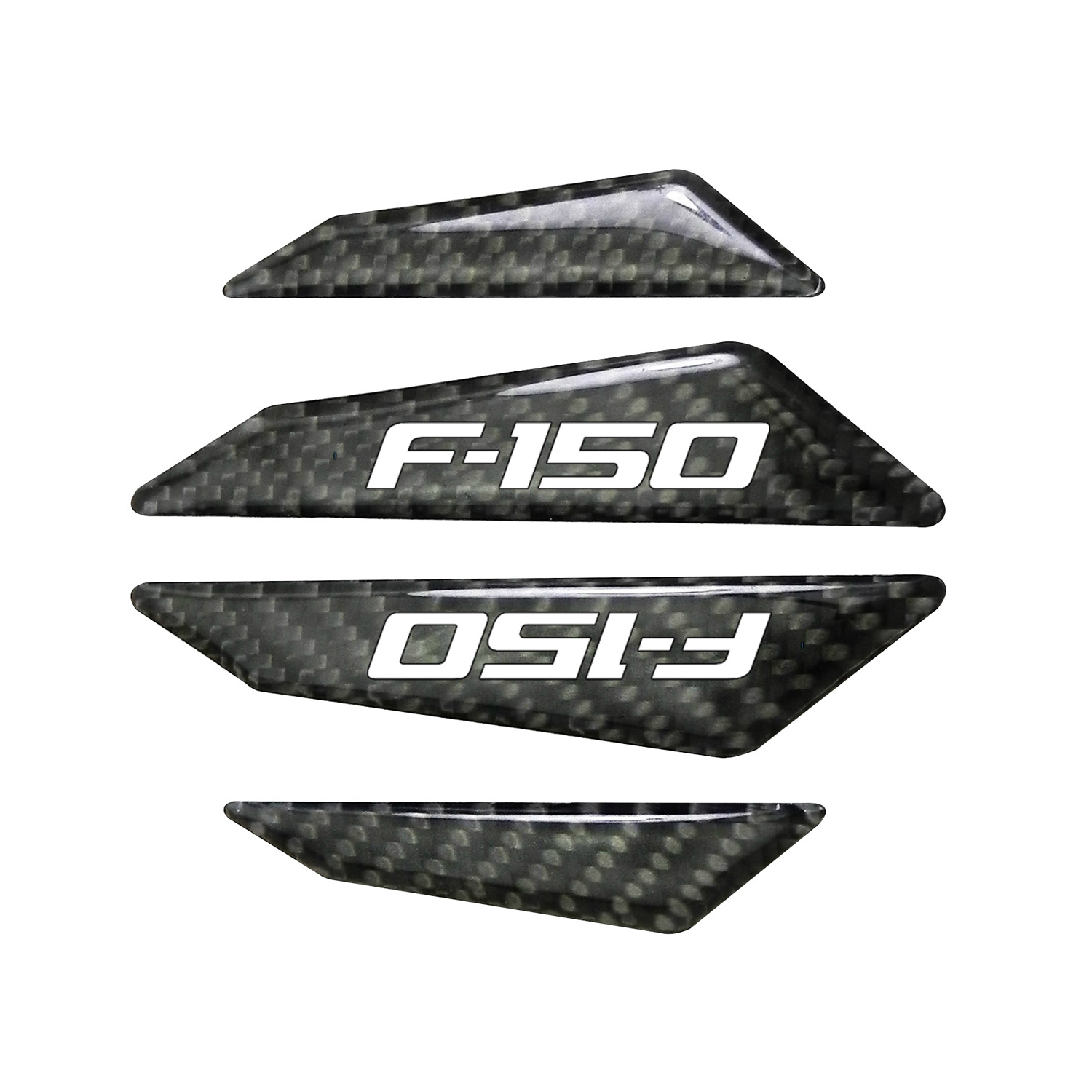 Ford F-150 2009-2014 Real Black Carbon Fiber Door Edge Guard Decal