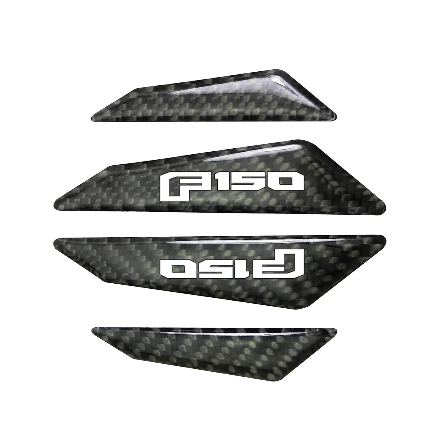 Ford F-150 2015 up Real Black Carbon Fiber Door Edge Guard Decal