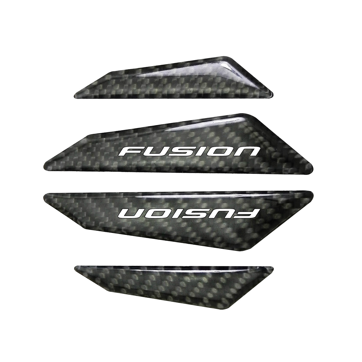 Ford Fusion Real Black Carbon Fiber Door Edge Guard Decal