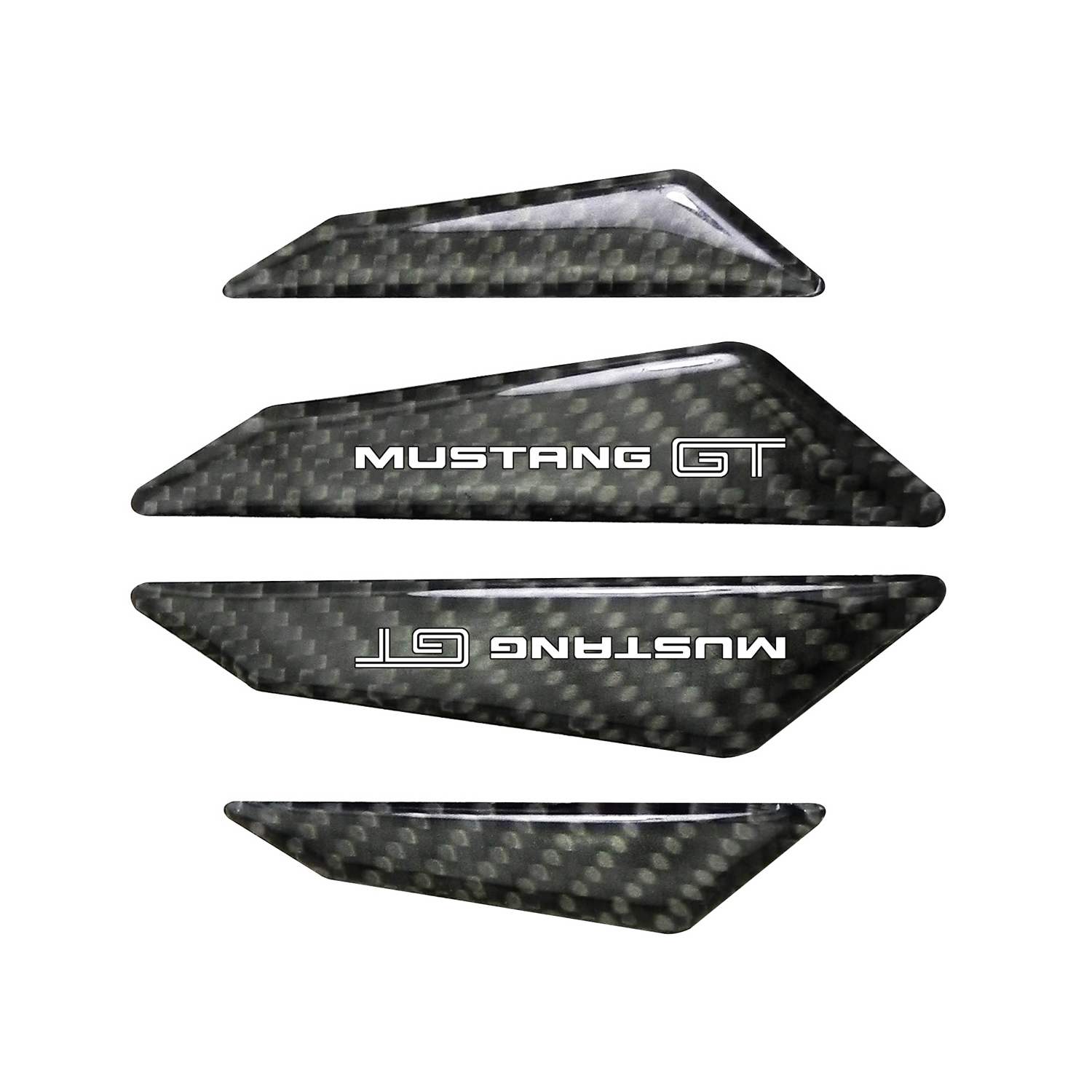 Ford Mustang GT Real Black Carbon Fiber Door Edge Guard Decal
