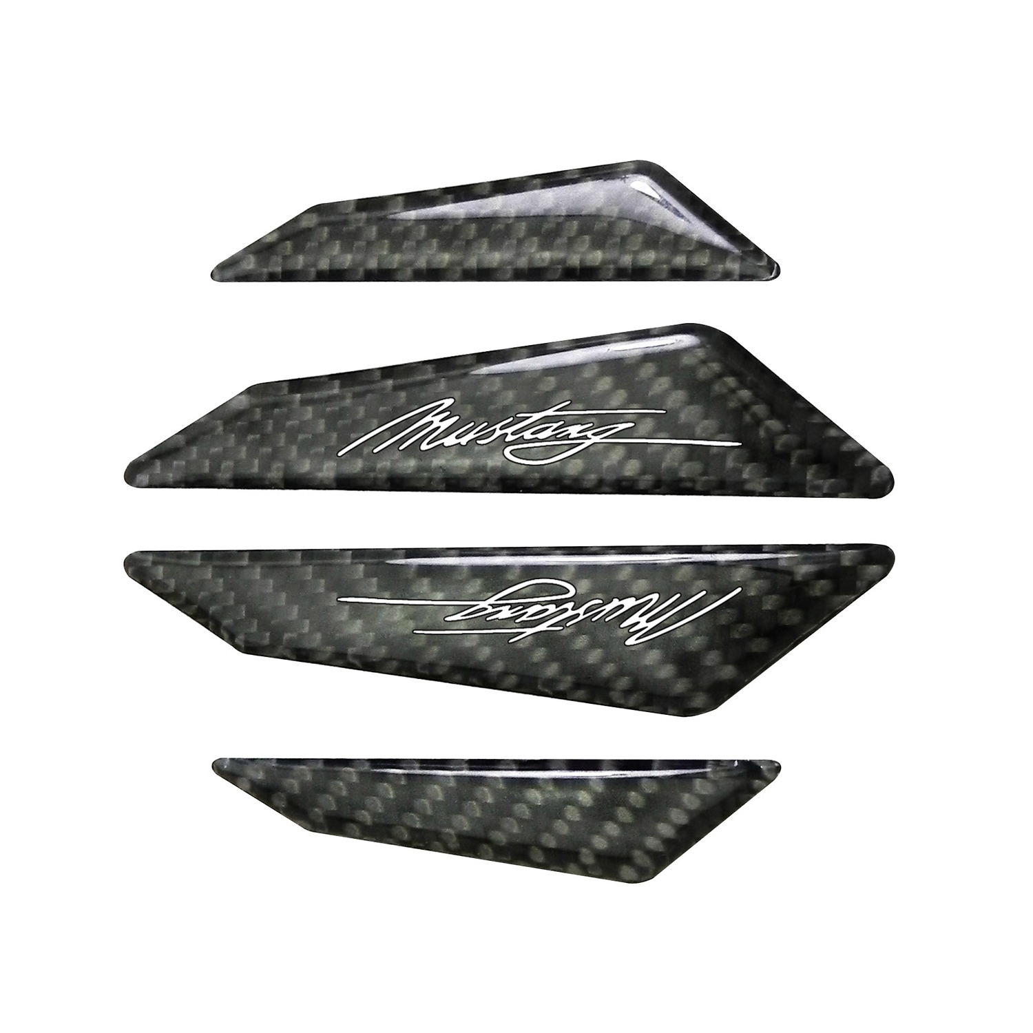 Ford Mustang Script Real Black Carbon Fiber Door Edge Guard Decal