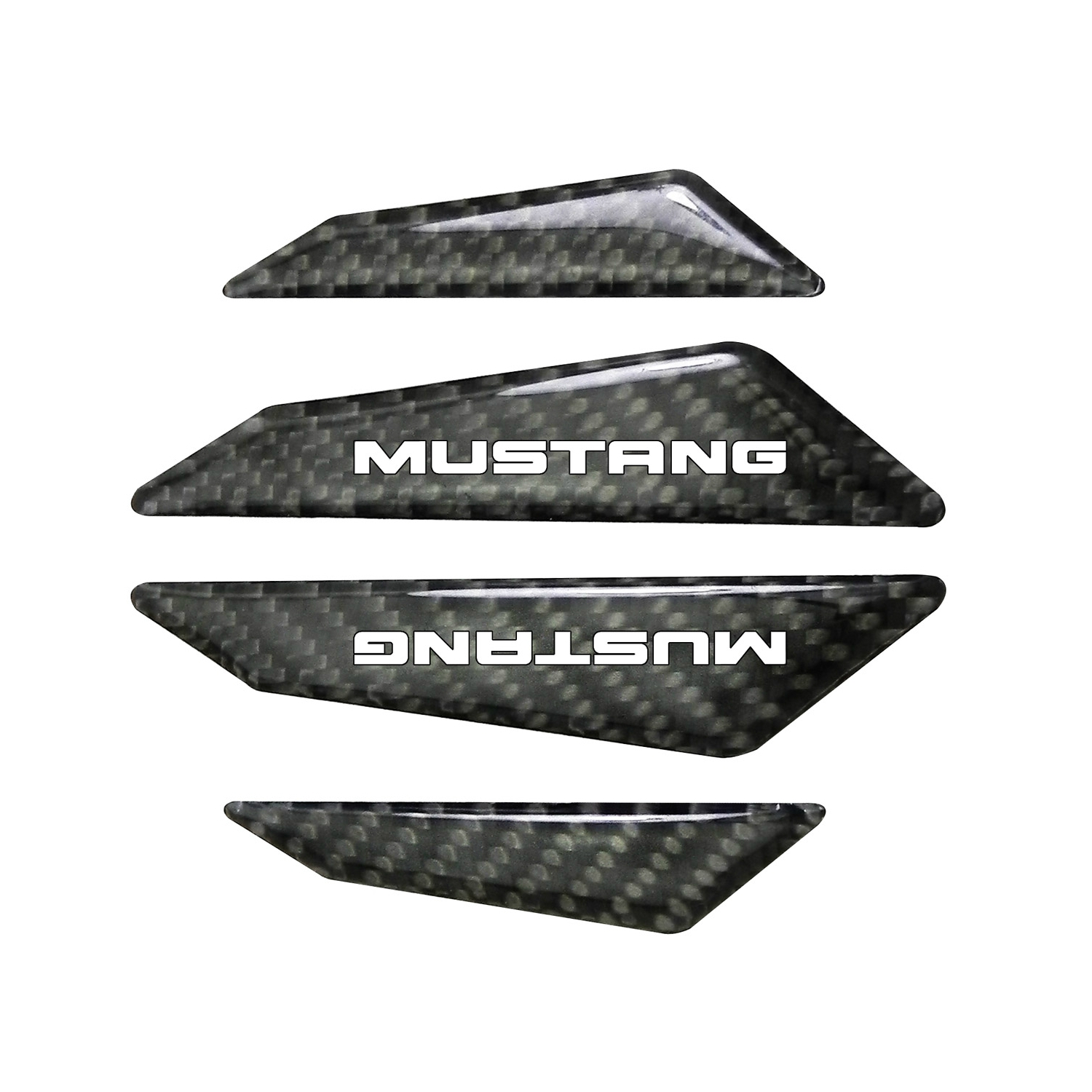 Ford Mustang Real Black Carbon Fiber Door Edge Guard Decal