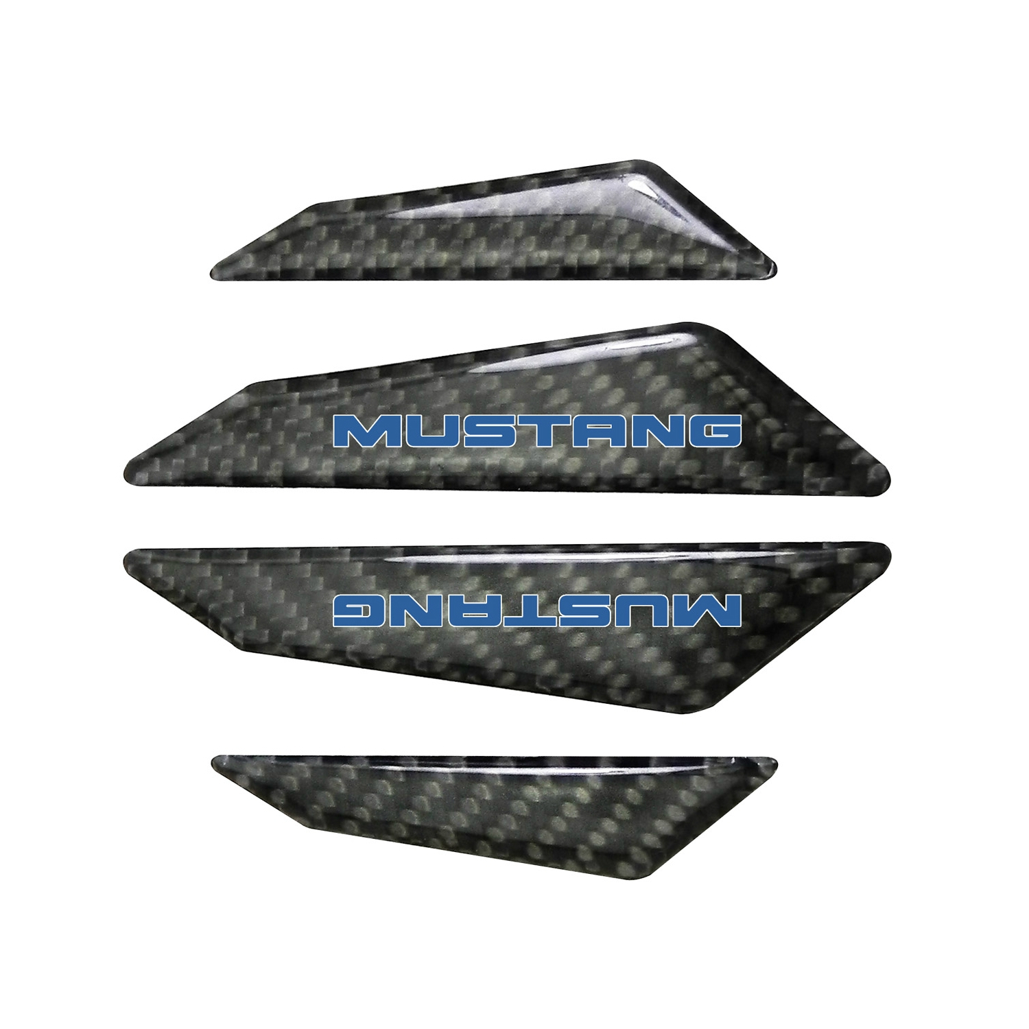 Ford Mustang in Blue Real Black Carbon Fiber Door Edge Guard Decal