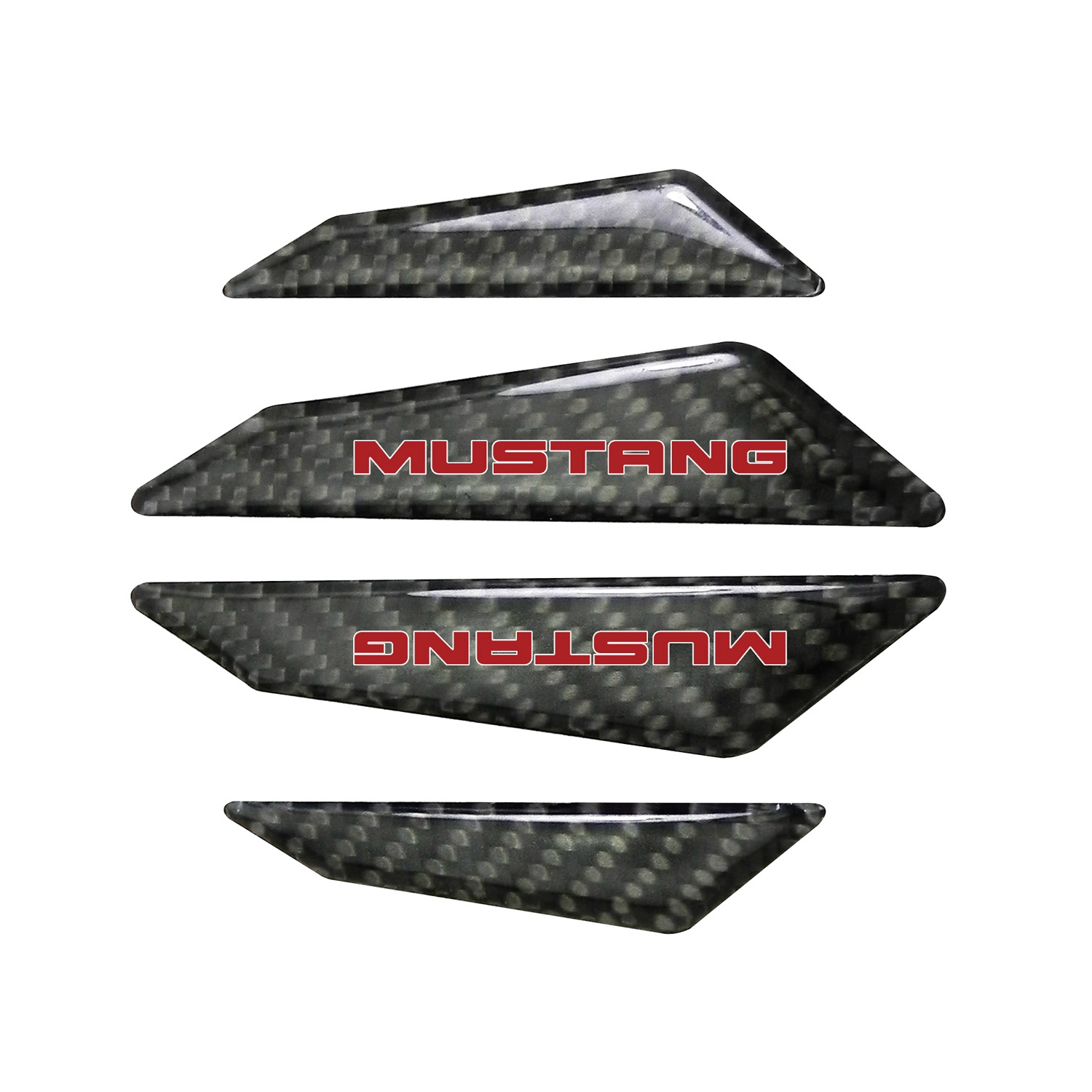 Ford Mustang in Red Real Black Carbon Fiber Door Edge Guard Decal