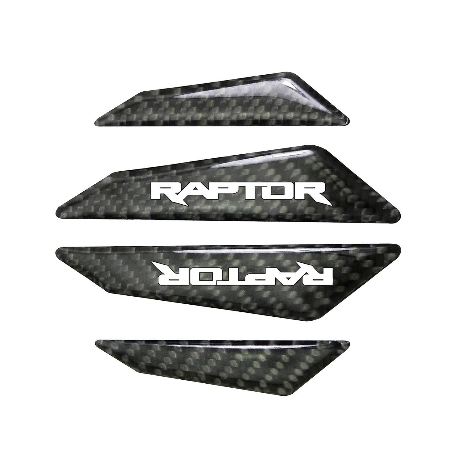 Ford F-150 Raptor Real Black Carbon Fiber Door Edge Guard Decal