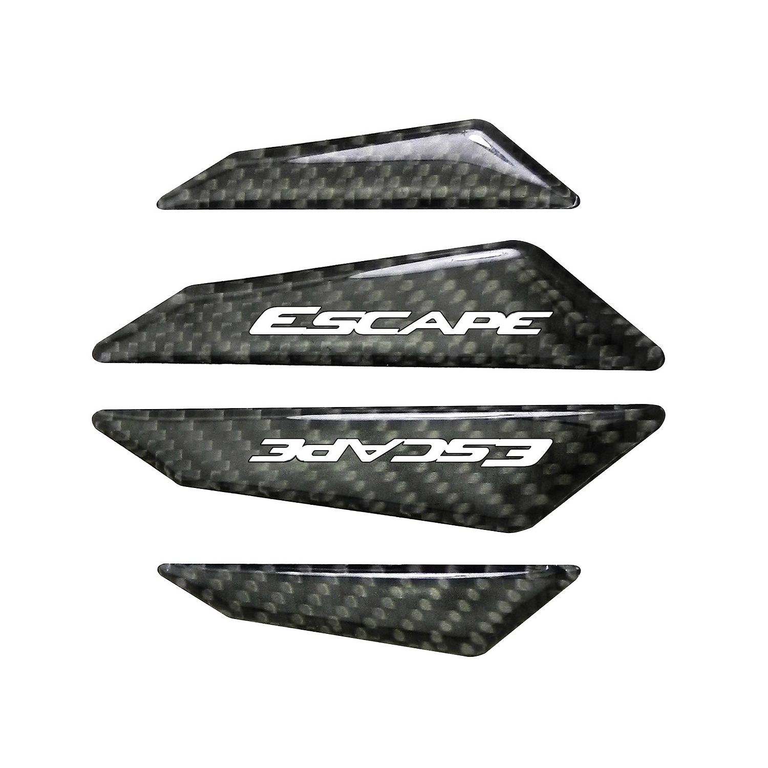Ford Escape Real Black Carbon Fiber Door Edge Guard Decal