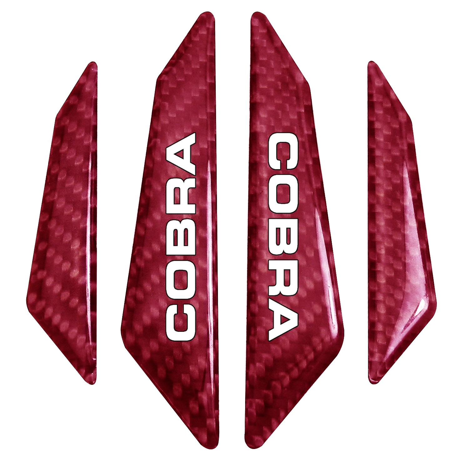 Ford Mustang Cobra Real Red Carbon Fiber Door Edge Guard Decal