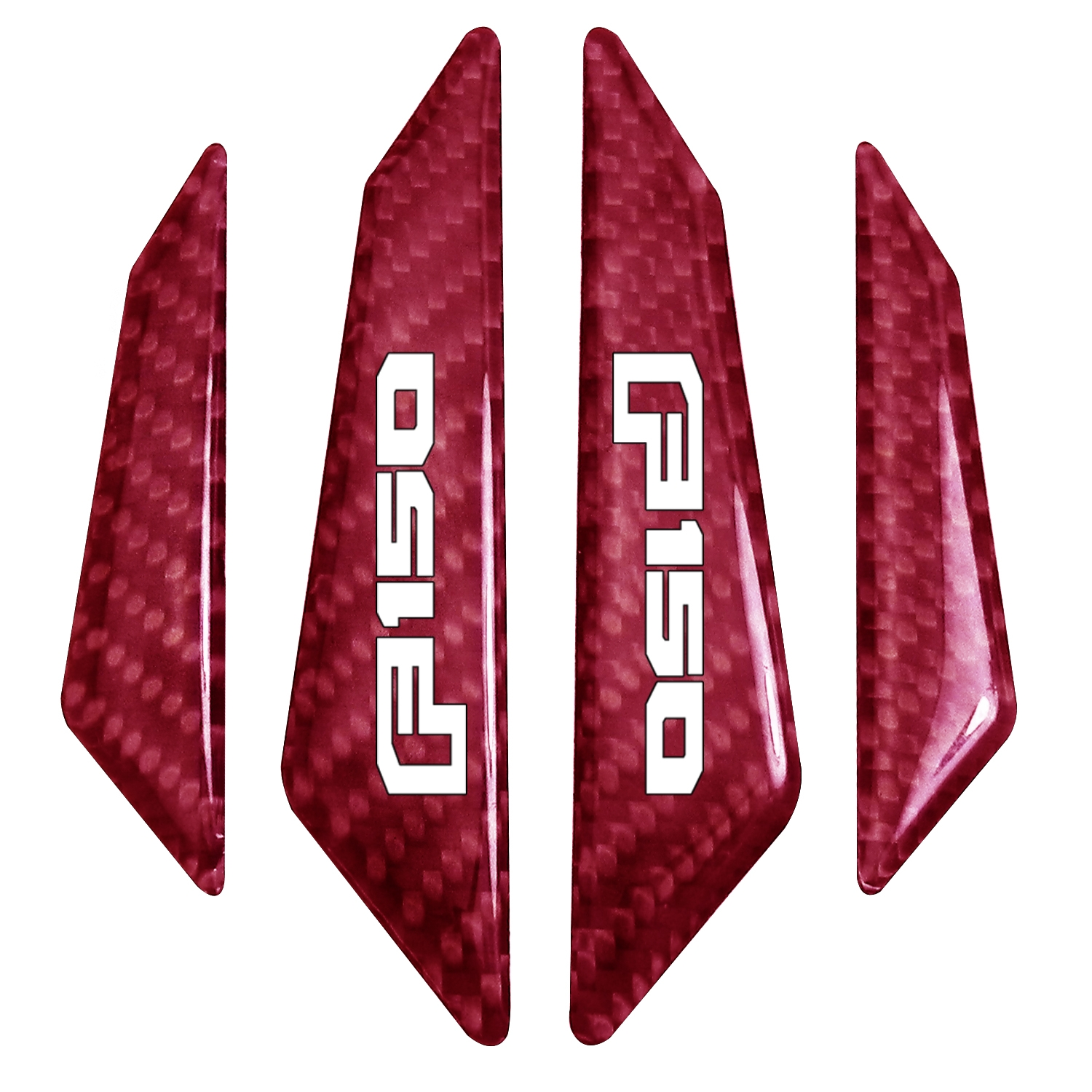 Ford F-150 2015 up Real Red Carbon Fiber Door Edge Guard Decal