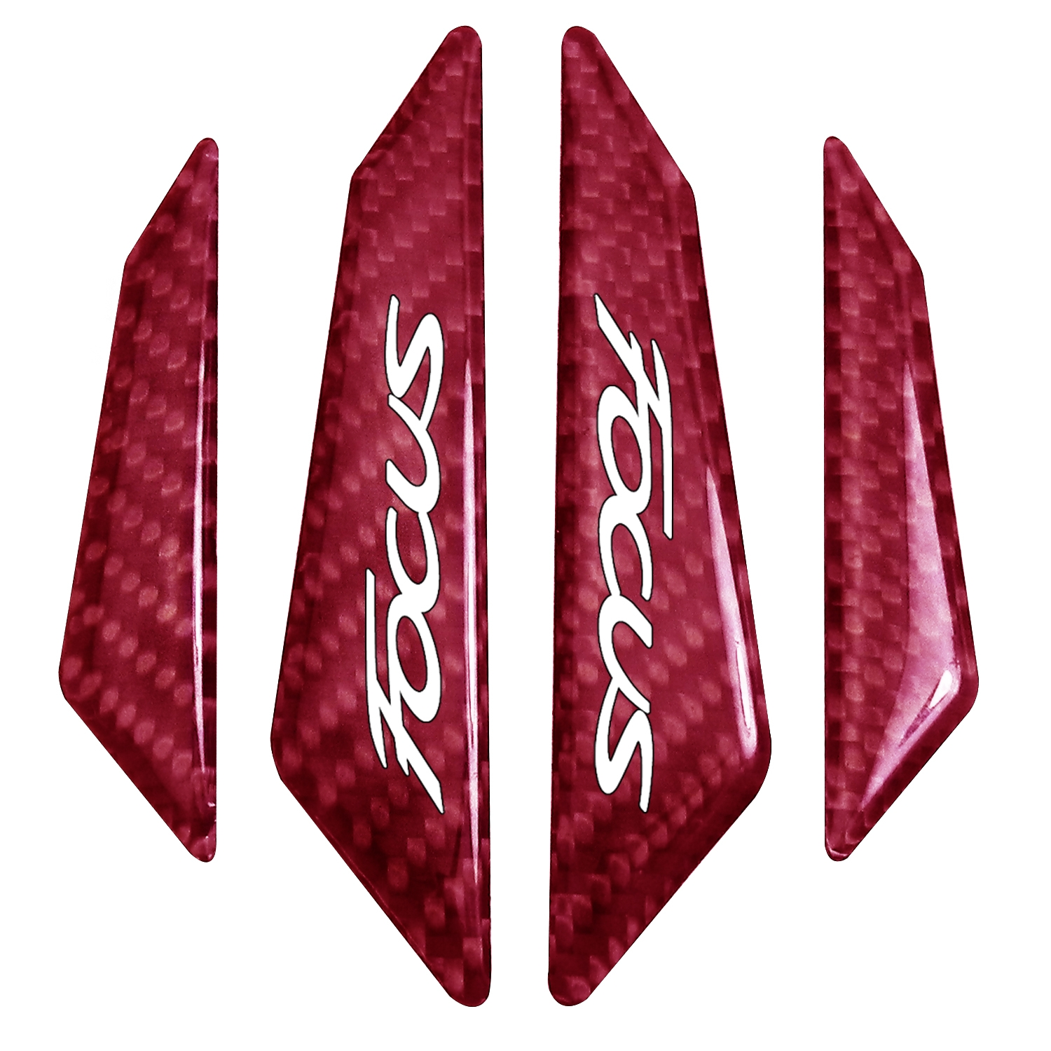 Ford Focus Real Red Carbon Fiber Door Edge Guard Decal