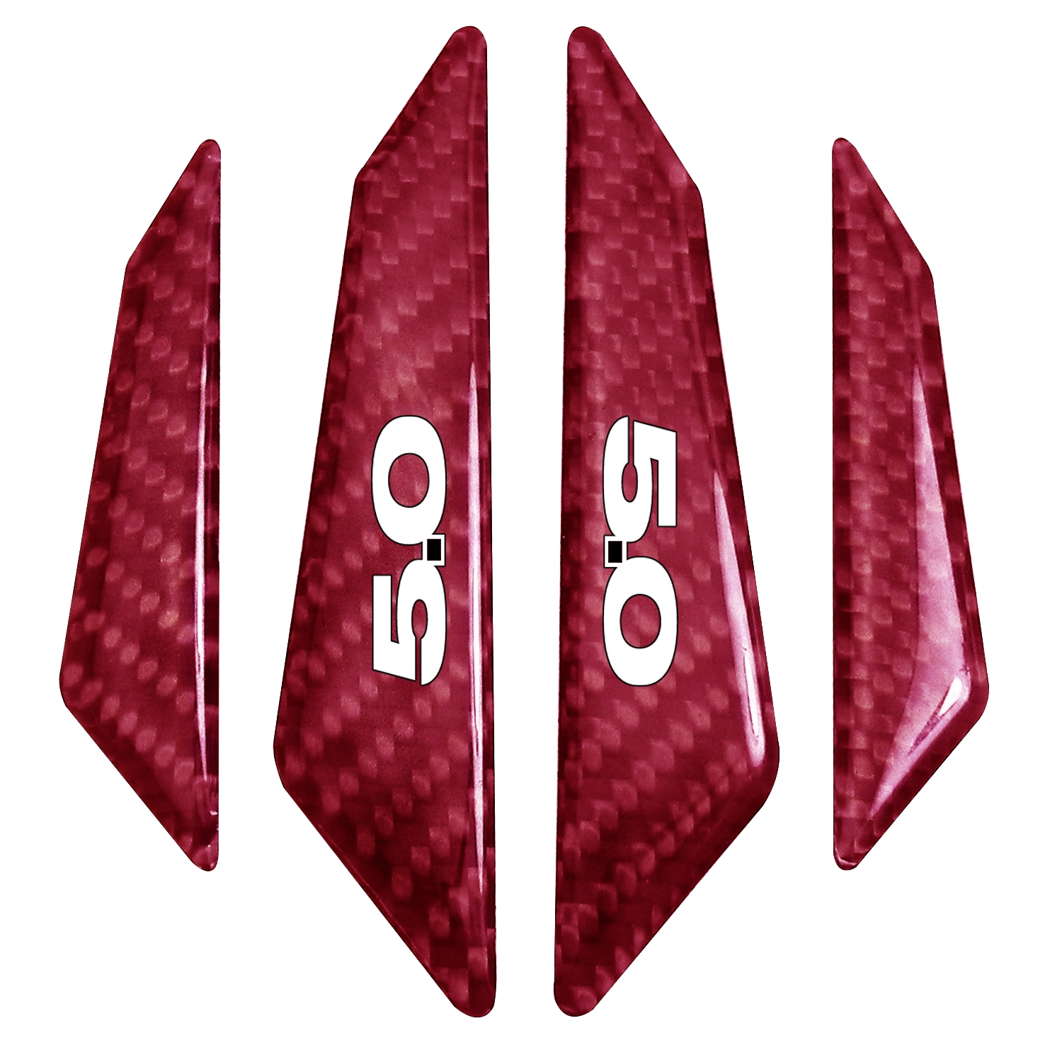 Ford Mustang 5.0 Real Red Carbon Fiber Door Edge Guard Decal