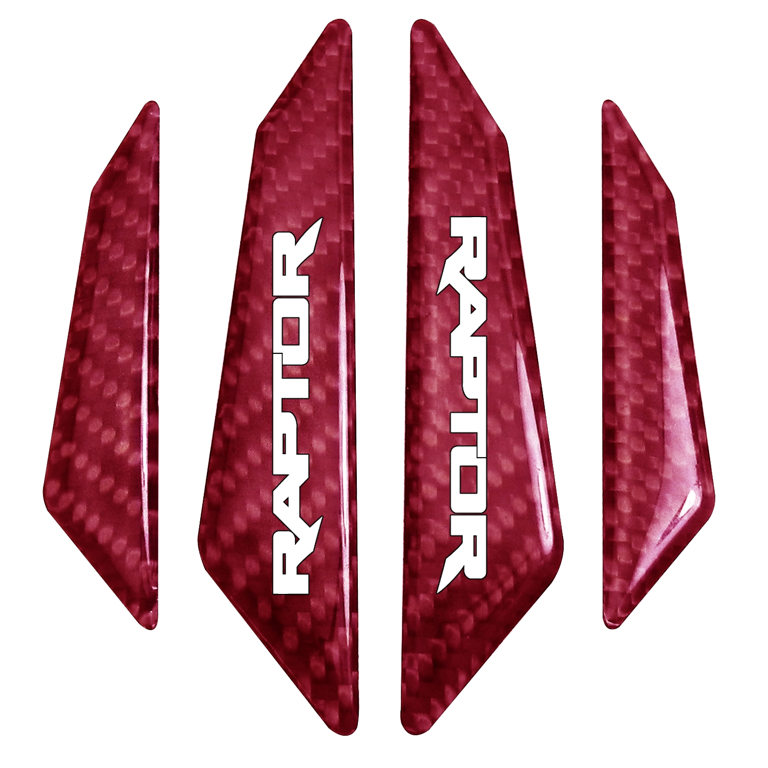 Ford F-150 Raptor Real Red Carbon Fiber Door Edge Guard Decal