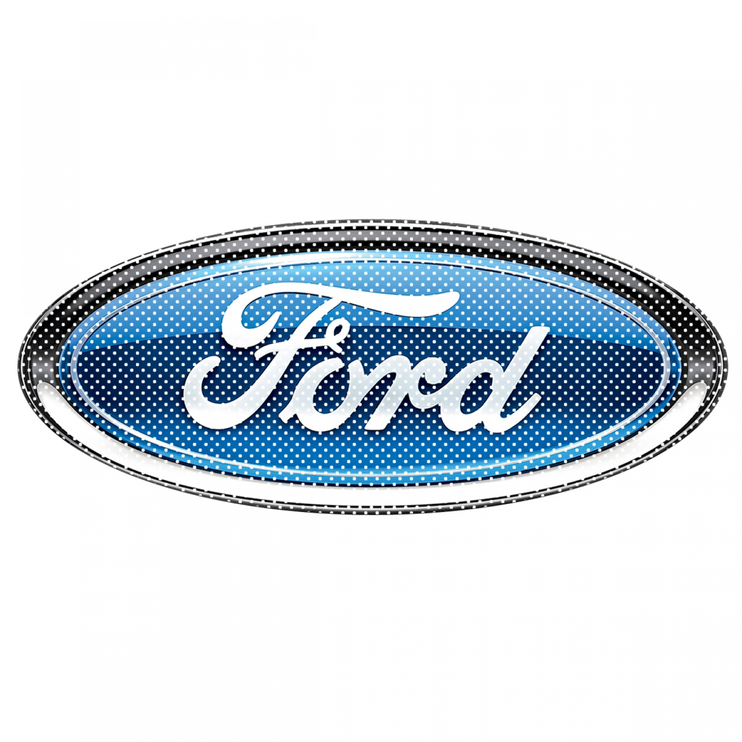 "Ford Logo 12"" 3M Perforated Unobstructed View Window Graphic Decorative Decal"