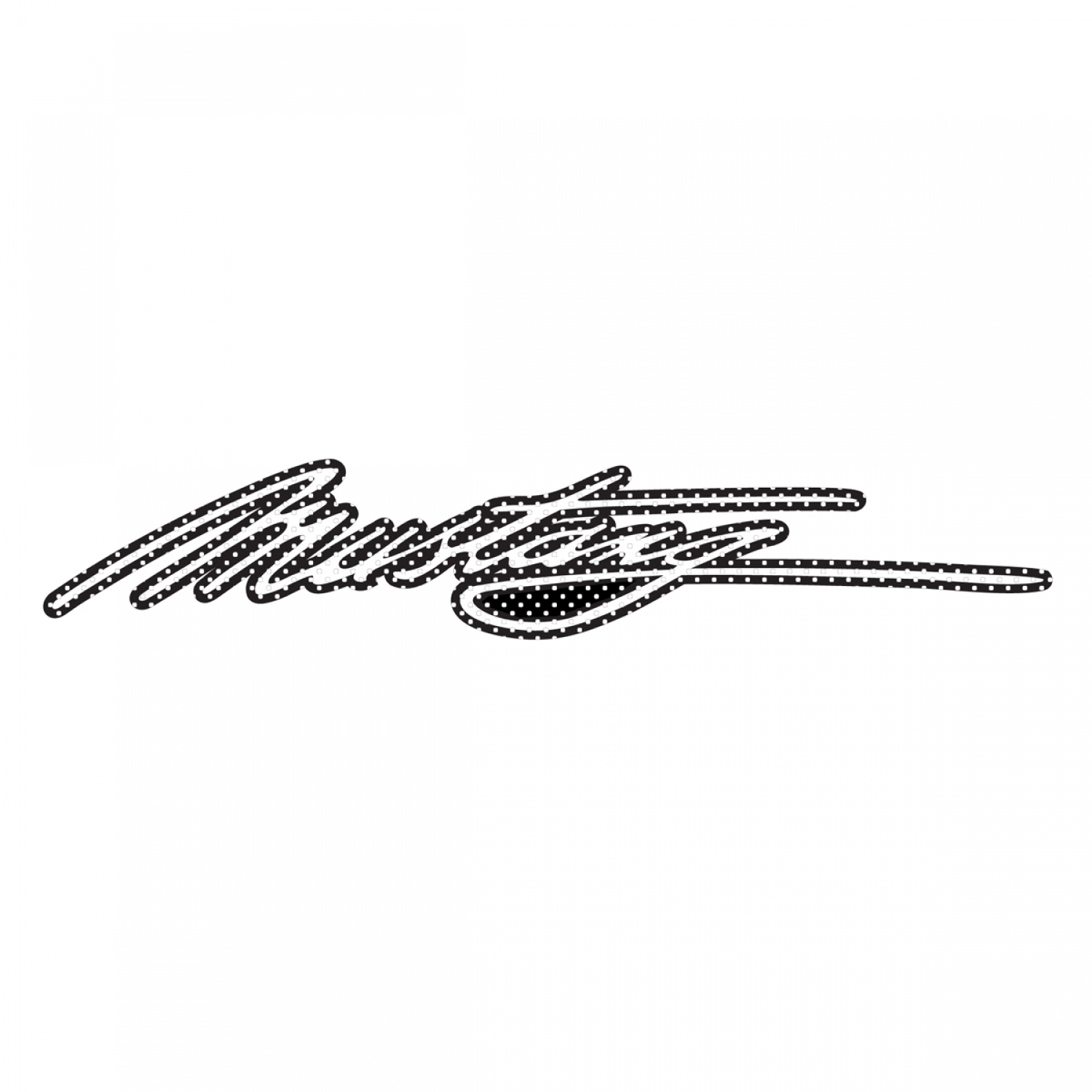 "Ford Mustang Script 12"" 3M Perforated Unobstructed View Window Graphic Decorative Decal"
