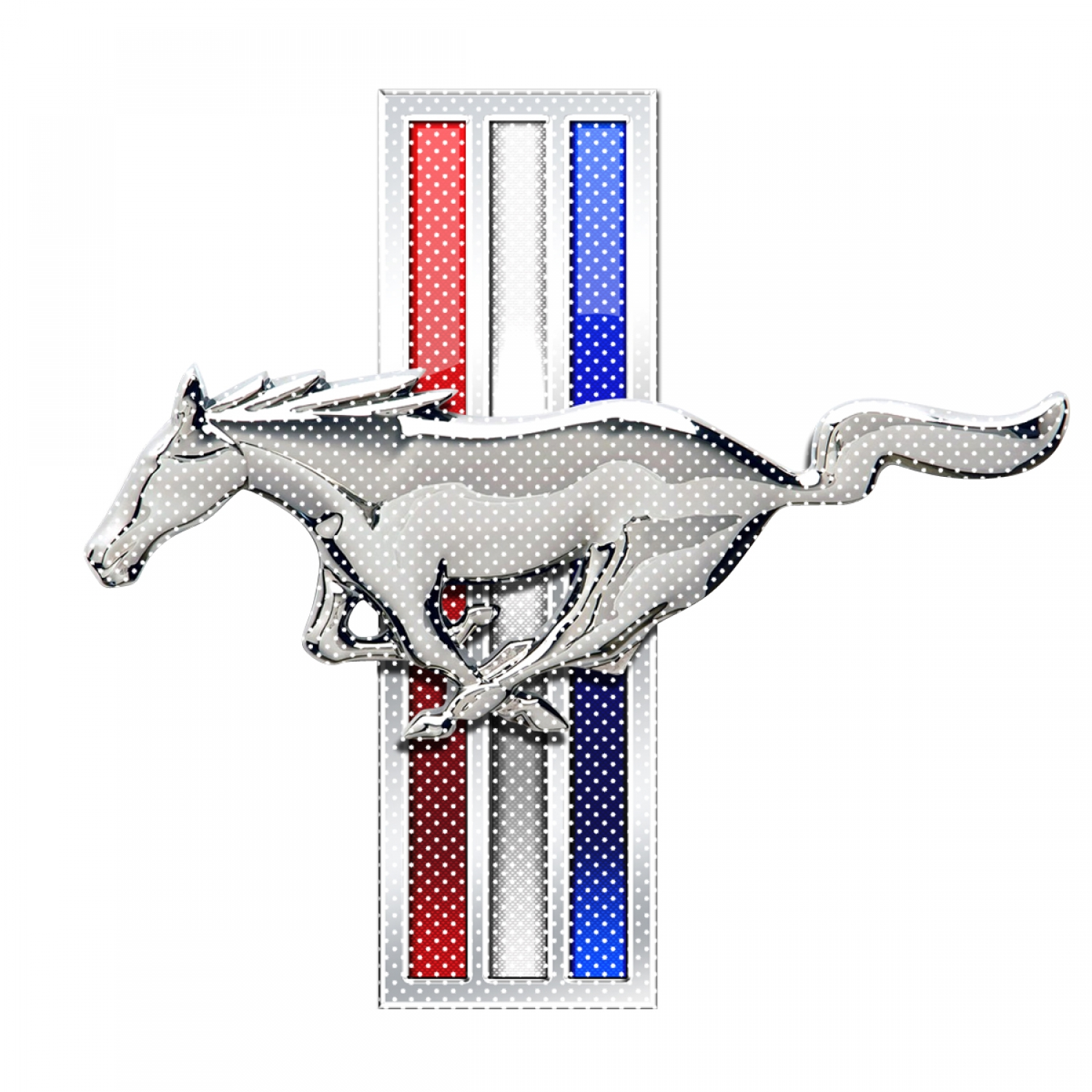 "Ford Mustang Tri-Bar Logo 12"" 3M Perforated Unobstructed View Window Graphic Decorative Decal"
