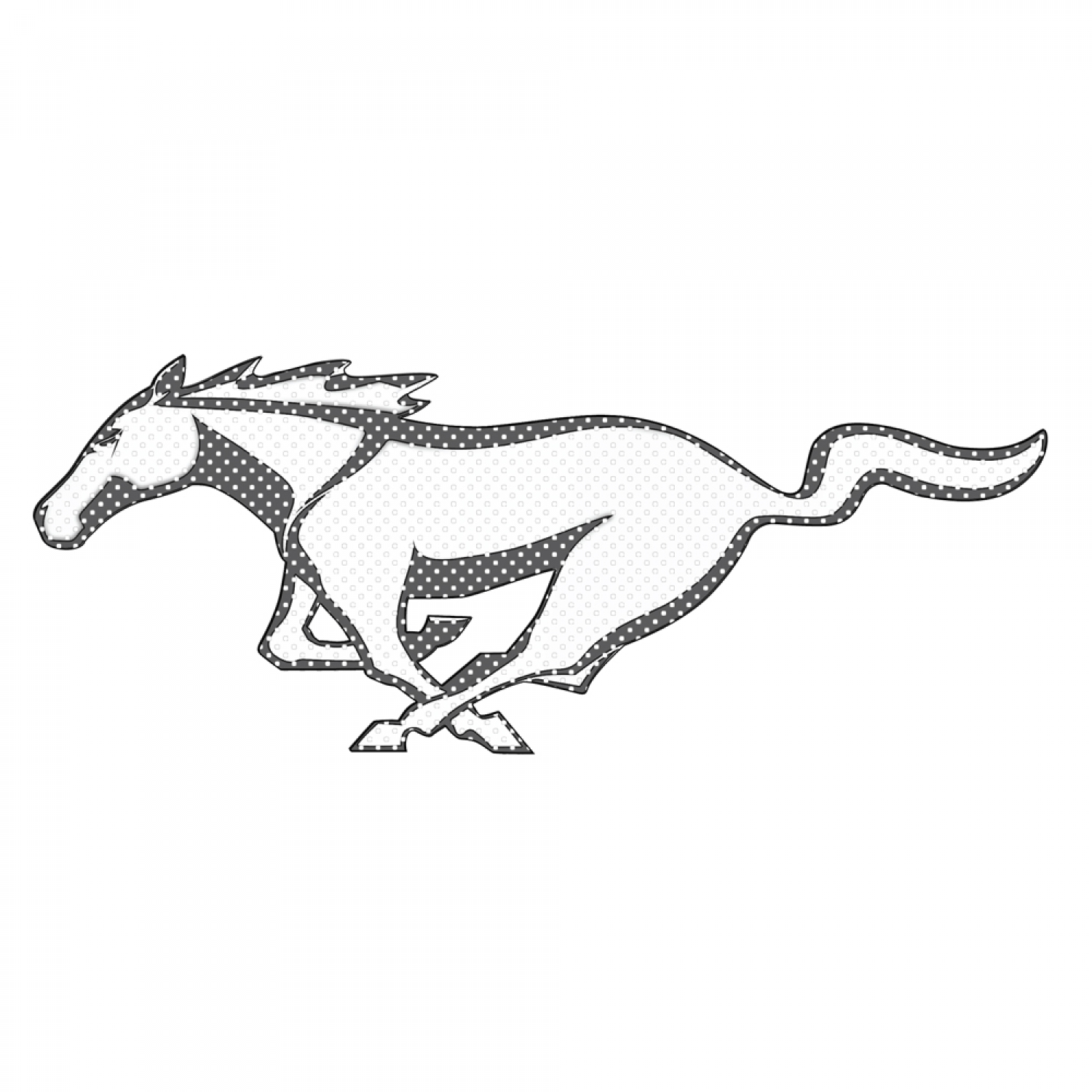"""Ford Mustang Pony 12"""" 3M Perforated Unobstructed View Window Graphic Decorative Decal"""
