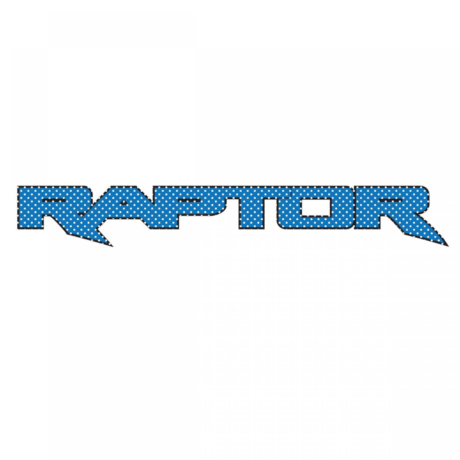 "Ford F150 Raptor 2017 up in Blue 12"" 3M Perforated Unobstructed View Window Graphic Decorative Decal"